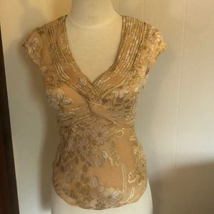 Anthropologie (Odielle) gold top